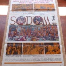Cine: SODOM AND GOMORRAH PÓSTER ORIGINAL DE LA PELÍCULA, ORIGINAL, DOBLADO, AÑO 1963, HECHO EN U.S.A.. Lote 44752342
