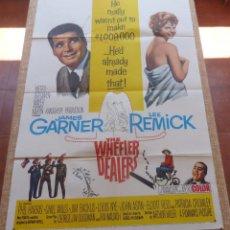 Cine: THE WHEELER DEALERS PÓSTER ORIGINAL DE LA PELÍCULA, ORIGINAL, DOBLADO, AÑO 1963, HECHO EN U.S.A.. Lote 44752371
