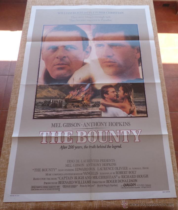 THE BOUNTY PÓSTER ORIGINAL DE LA PELÍCULA, ORIGINAL, DOBLADO, AÑO 1984, HECHO EN U.S.A., MEL GIBSON (Cine - Posters y Carteles - Acción)