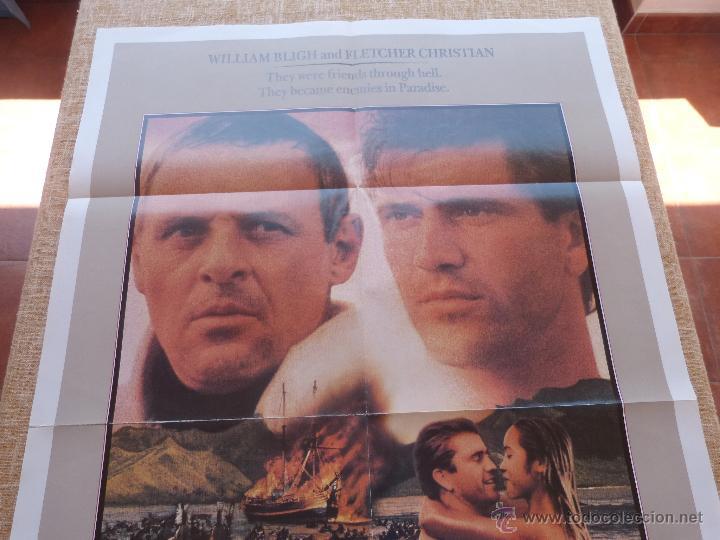 Cine: The Bounty Póster original de la película, Original, Doblado, año 1984, Hecho en U.S.A., Mel Gibson - Foto 2 - 44752517