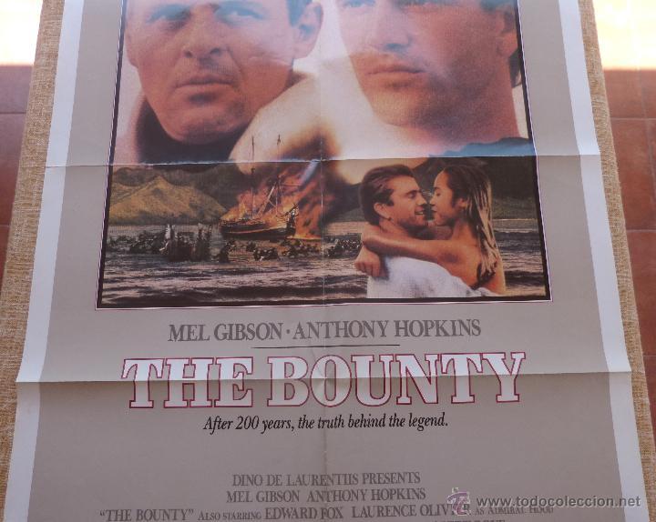 Cine: The Bounty Póster original de la película, Original, Doblado, año 1984, Hecho en U.S.A., Mel Gibson - Foto 3 - 44752517
