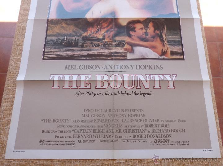 Cine: The Bounty Póster original de la película, Original, Doblado, año 1984, Hecho en U.S.A., Mel Gibson - Foto 4 - 44752517
