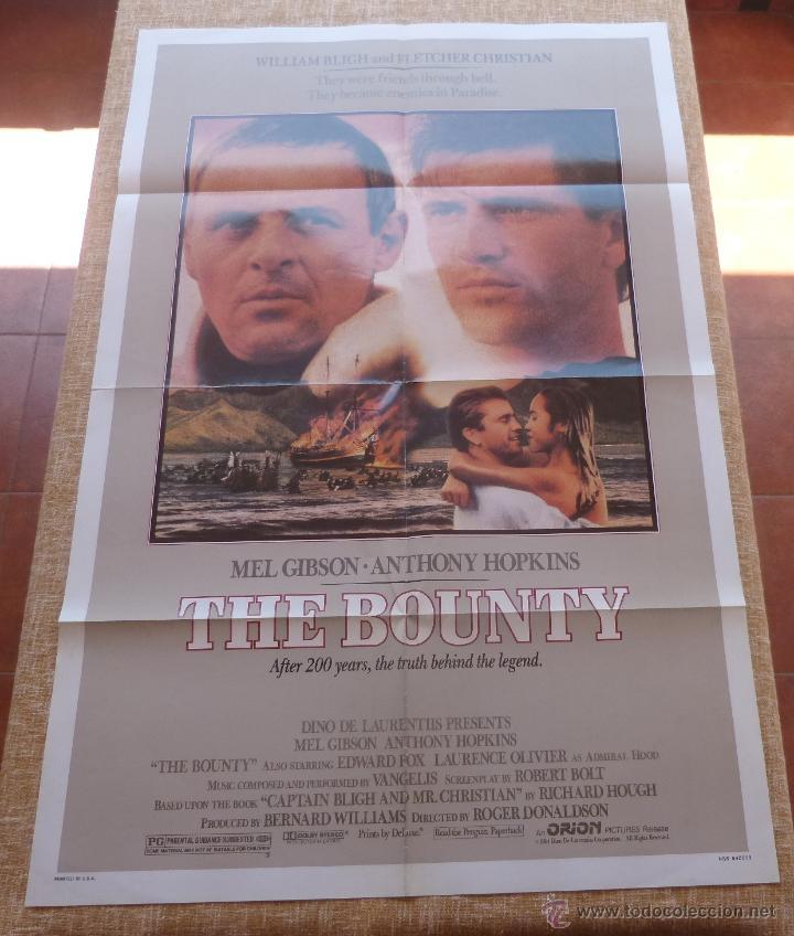 Cine: The Bounty Póster original de la película, Original, Doblado, año 1984, Hecho en U.S.A., Mel Gibson - Foto 6 - 44752517