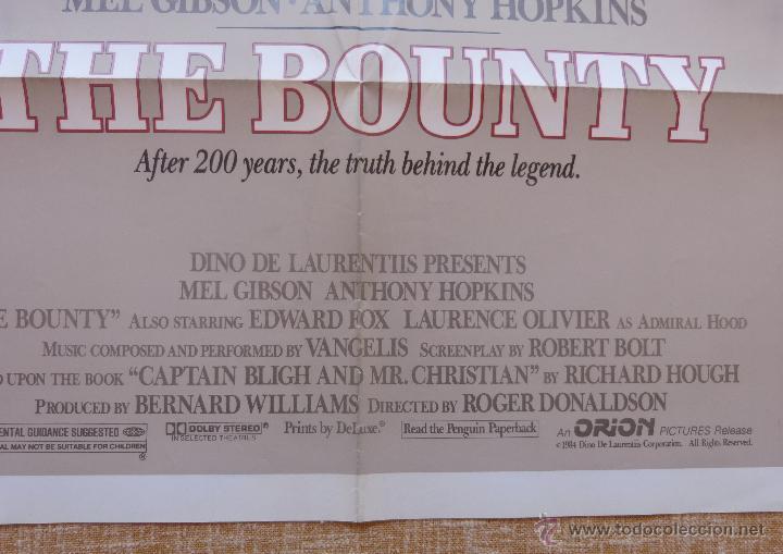 Cine: The Bounty Póster original de la película, Original, Doblado, año 1984, Hecho en U.S.A., Mel Gibson - Foto 9 - 44752517