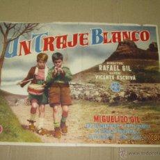 Cine: ANTIGUA PRUEBA DE IMPRENTA CARTEL ORIGINAL *UN TRAJE BLANCO* CON MIGUELITO GIL - AÑO 1956.. Lote 44892404