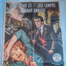 Cine: PÓSTER ORIGINAL LA MALDICIÓN DE LOS KARNSTEIN (1964). Lote 44933933