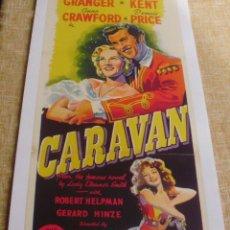 Cine: PÓSTER DE LINO ORIGINAL DE LA PELÍCULA CARAVAN, ORIGINAL, ENROLLADO, DE LINO, AÑO 1947. Lote 44935931