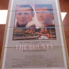 Cine: THE BOUNTY PÓSTER ORIGINAL DE LA PELÍCULA, DOBLADO, AÑO 1984, HECHO EN USA., MEL GIBSON Y A. HOPKINS. Lote 44962057