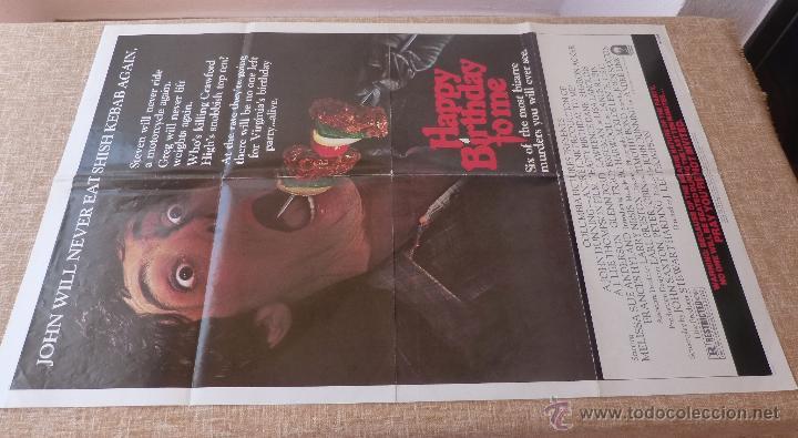 Cine: Happy Birthday To Me Póster original de la película, Original, Doblado, año 1981, Hecho en U.S.A. - Foto 2 - 44963493