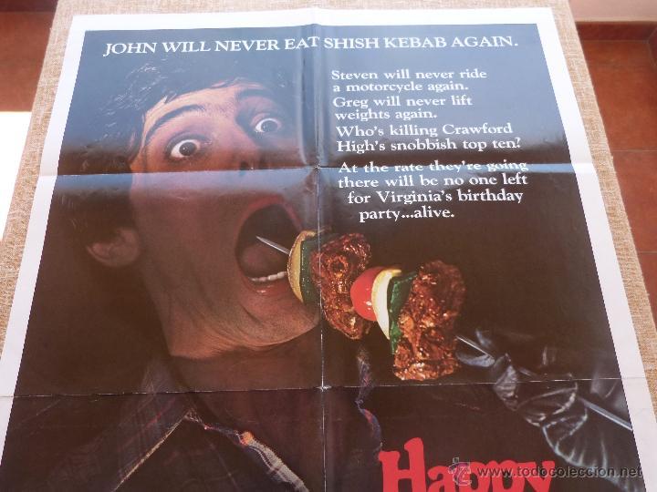 Cine: Happy Birthday To Me Póster original de la película, Original, Doblado, año 1981, Hecho en U.S.A. - Foto 3 - 44963493