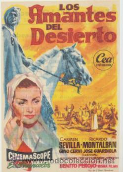 LOS AMANTES DEL DESIERTO. SENCILLO DE CEA. TEATRO REGIO - YECLA. ¡IMPECABLE! (Cine - Posters y Carteles - Clasico Español)