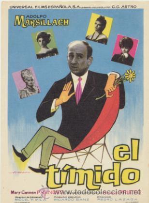 EL TÍMIDO. SENCILLO DE UNIVERSAL. (Cine - Posters y Carteles - Clasico Español)
