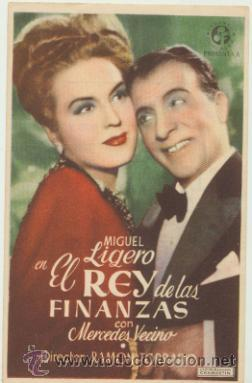 EL REY DE LAS FINANZAS. SENCILLO DE SUEVIA FILMS. CINE GOYA - SEVILLA. (Cine - Posters y Carteles - Clasico Español)