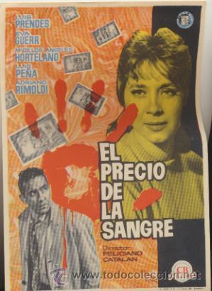EL PRECIO DE LA SANGRE. SENCILLO DE CB. (Cine - Posters y Carteles - Clasico Español)