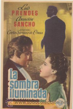 LA SOMBRA ILUMINADA. SENCILLO DE MGM. CINEMA LA RAMBLA. ¡IMPECABLE! (Cine - Posters y Carteles - Clasico Español)