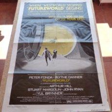 Cine: FUTUREWORLD PÓSTER ORIGINAL DE LA PELÍCULA, ORIGINAL, DOBLADO, AÑO 1976, ESTILO B, HECHO EN U.S.A.. Lote 45028085