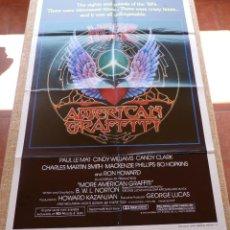 Cine: MORE AMERICAN GRAFFITI PÓSTER ORIGINAL DE LA PELÍCULA, DOBLADO, ORIGINAL, AÑO 1979, ESTILO A, U.S.A.. Lote 45028156