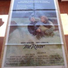 Cine: THE RIVER PÓSTER ORIGINAL DE LA PELÍCULA, ORIGINAL, DOBLADO, AÑO 1984, HECHO EN U.S.A.. Lote 45028542