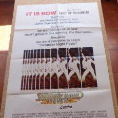 Cine: SATURDAY NIGHT FEVER PÓSTER ORIGINAL DE LA PELÍCULA, DOBLADO, ORIGINAL, AÑO 1977, U.S.A., ESTILO PG. Lote 45078209