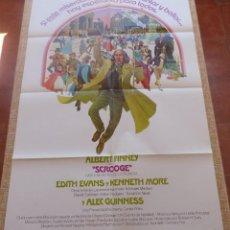 Cine: SCROOGE PÓSTER ESPAÑOL ORIGINAL DE LA PELÍCULA, ORIGINAL, DOBLADO, ESPAÑOL, AÑO 1970, HECHO EN USA. Lote 183184006