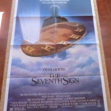 Cine: THE SEVENTH SIGN PÓSTER ORIGINAL DE LA PELÍCULA, ORIGINAL, DOBLADO, AÑO 1988, HECHO EN U.S.A.. Lote 45116013