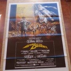Cine: LION OF THE DESERT PÓSTER ORIGINAL DE LA PELÍCULA, ORIGINAL, DOBLADO, AÑO 1981, HECHO EN U.S.A.. Lote 45116066