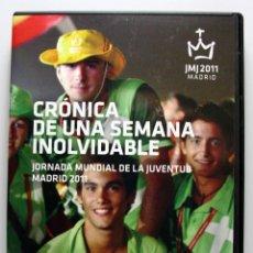 Cine: DVD JMJ 2011 MADRID, CRONICAS DE UNA SEMANA INOLVIDABLE. Lote 45119809