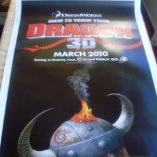 Cine: HOW TO TRAIN YOUR DRAGON PÓSTER ORIGINAL DE LA PELÍCULA, ENROLLADO, DOBLE CARA, TEASER, AÑO 2009. Lote 45143709
