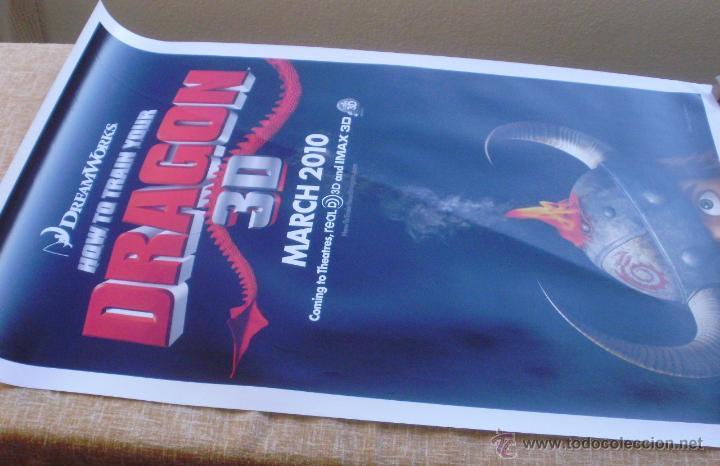 Cine: How to Train your Dragon Póster original de la película, Enrollado, Doble Cara, Teaser, año 2009 - Foto 2 - 45143709