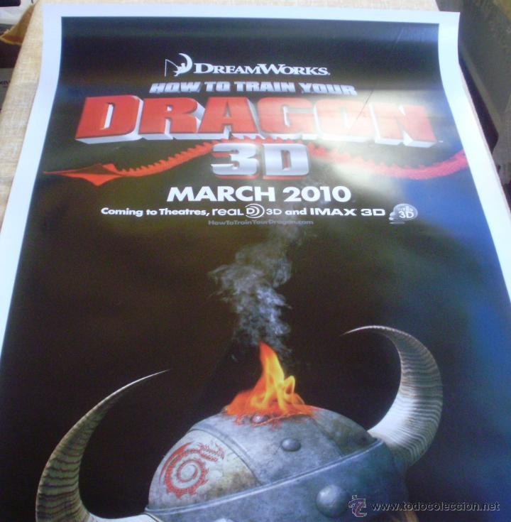 Cine: How to Train your Dragon Póster original de la película, Enrollado, Doble Cara, Teaser, año 2009 - Foto 4 - 45143709