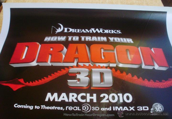 Cine: How to Train your Dragon Póster original de la película, Enrollado, Doble Cara, Teaser, año 2009 - Foto 7 - 45143709