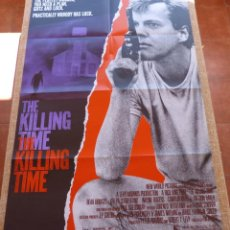 Cine: THE KILLING TIME PÓSTER ORIGINAL DE LA PELÍCULA, ORIGINAL, DOBLADO, AÑO 1987, BEAU BRIDGES. Lote 45161964