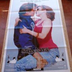 Cine: THE SLUGGER´S WIFE PÓSTER ORIGINAL DE LA PELÍCULA, ORIGINAL, DOBLADO, AÑO 1985, HECHO EN U.S.A.. Lote 45253179