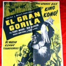 Cine: EL GRAN GORILA 1949 (CARTEL ORIGINAL ESTRENO EN ESPAÑA) BEN JOHNSON OSCAR 1950 PRODUCCION JOHN FORD. Lote 128690246