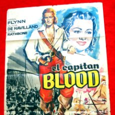 Cine: EL CAPITAN BLOOD (CARTEL ORIGINAL DEL AÑO 1964) ERROL FLYNN. Lote 45259822