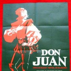 Cine: DON JUAN 1967 (CARTEL ORIGINAL DEL ESTRENO EN ESPAÑA DISEÑO JANO). Lote 45260308