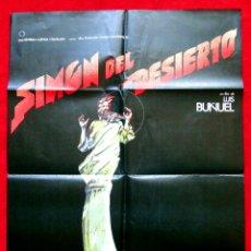 Cine: SIMON DEL DESIERTO (CARTEL ORIGINAL DEL ESTRENO EN ESPAÑA DIRECTOR LUIS BUÑUEL) DISEÑO IVAN ZULOETA. Lote 45260449