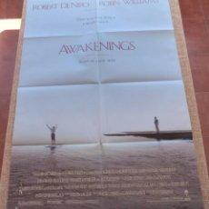 Cine: AWAKENINGS PÓSTER ORIGINAL DE LA PELÍCULA, ORIGINAL, DOBLADO, AÑO 1990, HECHO EN U.S.A., DOBLE CARA. Lote 45272453