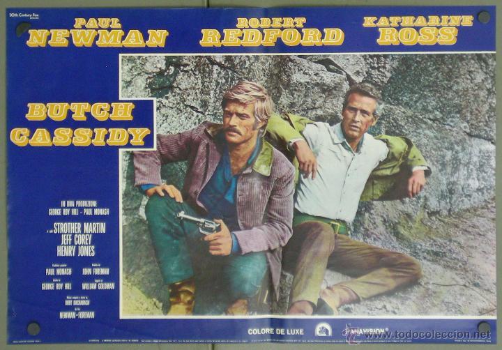 VA33 DOS HOMBRES Y UN DESTINO PAUL NEWMAN ROBERT REDFORD SET 6 POSTERS ITALIANO 47X68 (Cine - Posters y Carteles - Westerns)