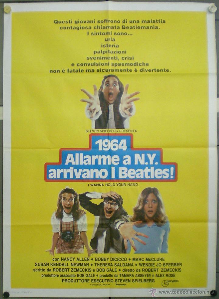 VA54 LOCOS POR ELLOS ROBERT ZEMECKIS THE BEATLES POSTER ORIGINAL ITALIANO 100X140 (Cine - Posters y Carteles - Musicales)