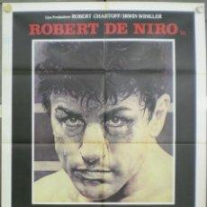 Cine: VA68 TORO SALVAJE ROBERT DE NIRO MARTIN SCORSESE BOXEO POSTER ORIGINAL ITALIANO 100X140. Lote 45309852