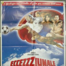 Cine: VA72 DIEGO ABATANTUONO CARLO VANZINA FUTBOL POSTER ORIGINAL ITALIANO 100X140. Lote 45310077