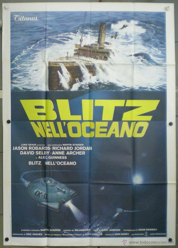 YG36 RESCATEN EL TITANIC JASON ROBARDS ALEC GUINNNESS POSTER ORIGINAL ITALIANO 140X200 (Cine - Posters y Carteles - Acción)