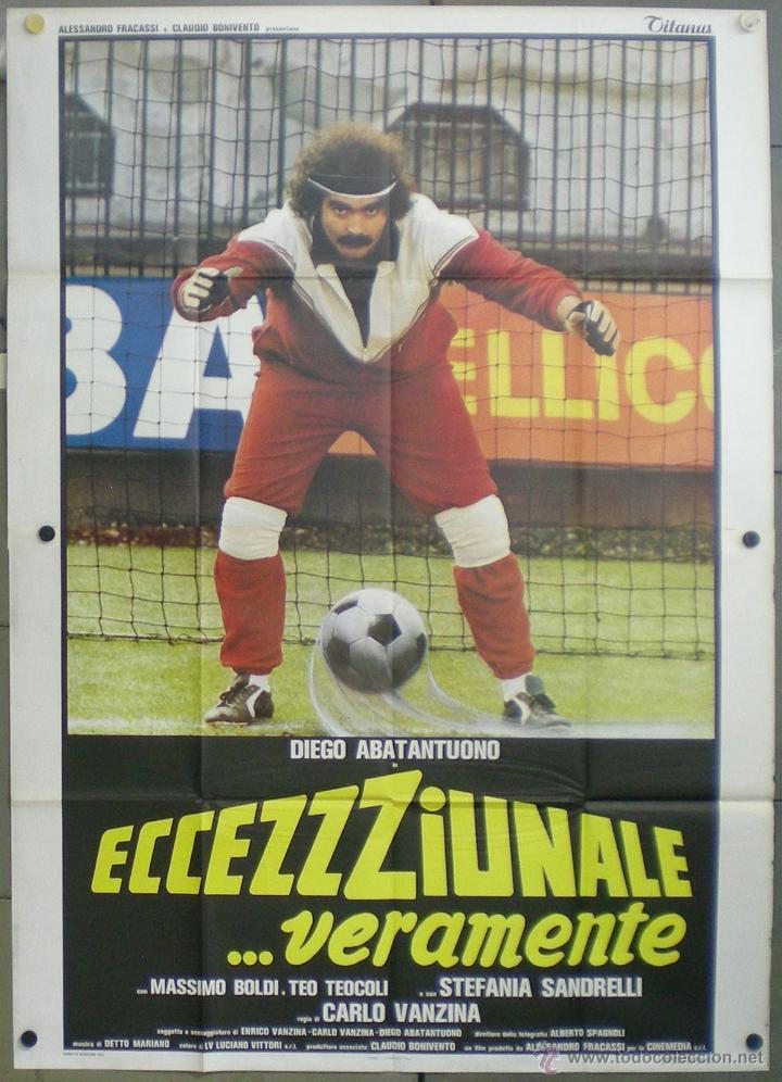VA88 DIEGO ABATANTUONO STEFANIA SANDRELLI CARLO VANZINA FUTBOL ORIGINAL ITALIANO 140X200 (Cine - Posters y Carteles - Deportes)