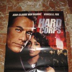 Cine: POSTER CARTEL DE VIDEOCLUB DE HARD CORPS • JEAN-CLAUDE VAN DAMME • 70 X 95. Lote 45324085