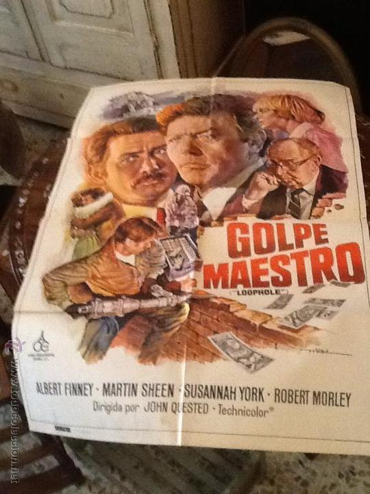 ATENCION !!!! POSTER SACADO DE ANTIGUO CINE DE LA PELICULA GOLPE MAESTRO (Cine - Posters y Carteles - Acción)