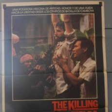 Cine: THE KILLING FIELDS, CARTEL DE CINE ORIGINAL 70X100 APROX (2853). Lote 45515431