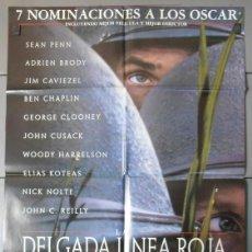 Cine: LA DELGADA LINEA ROJA,SEAN PEAN, GEORGE CLOONEY, NICK NOLTE CARTEL DE CINE ORIGINAL 70X100 APROX (33. Lote 45575173
