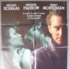 Cine: UN CRIMEN PERFECTO,MICHAEL DOUGLAS CARTEL DE CINE ORIGINAL 70X100 APROX (3510). Lote 45575377
