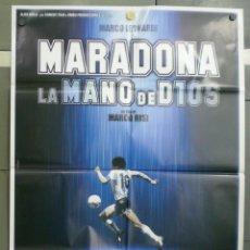 Cinema: QN17D MARADONA LA MANO DE DIOS FUTBOL POSTER ORIGINAL ITALIANO 100X140. Lote 226876427